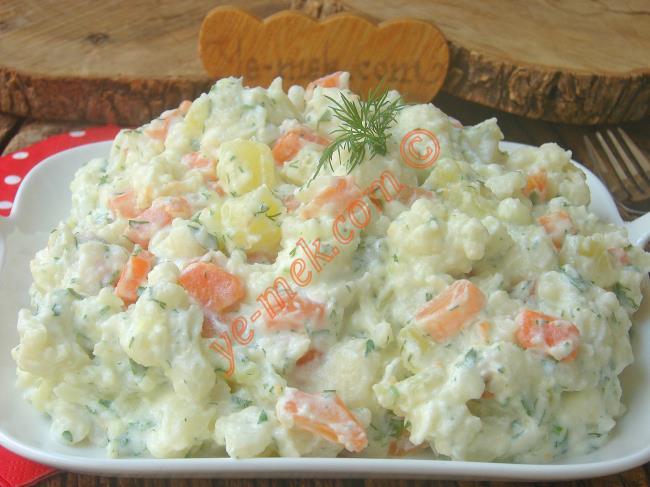 Karnabahar Sevmeyenler Bile Bu Lezzete Bayılacak : Havuçlu Karnabahar Salatası