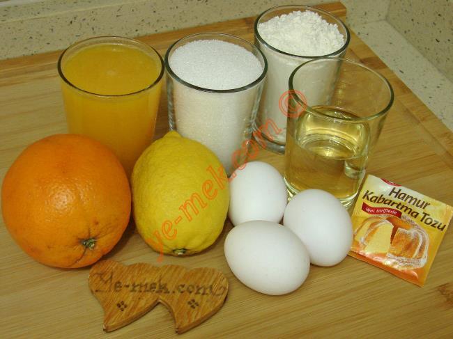 Limonlu Portakallı Kek - Yapılışı (1/12)