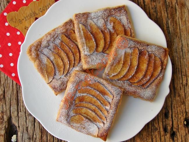 Bu Kadar Mı Kolay Olur, En Nefis Pratik Tatlı : Elmalı Milföy Tart