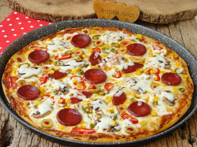 Böyle Güzel Bir Pizza Tarifini Hiç Bir Yerde Bulamazsınız : Karışık Pizza