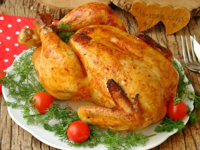 Bütün Tavuk Fırın Poşetinde Nasıl Yapılır