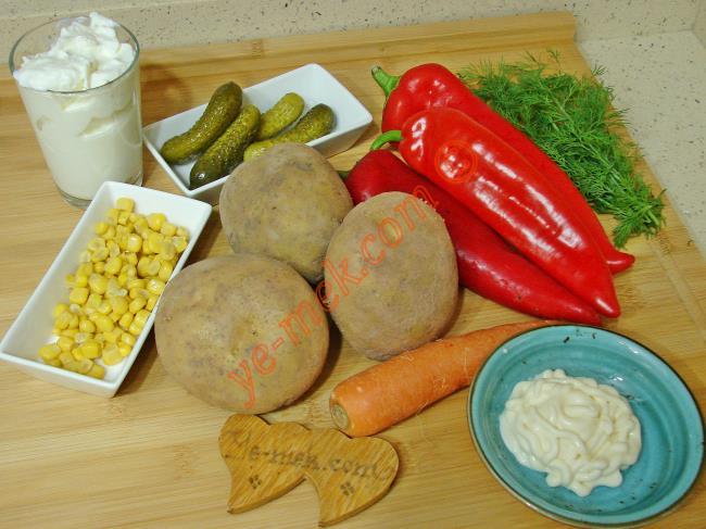 Köz Biberli Patates Salatası - Yapılışı (1/12)