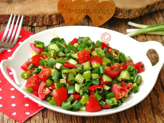 Yeşil Soğan Salatası Tarifleri