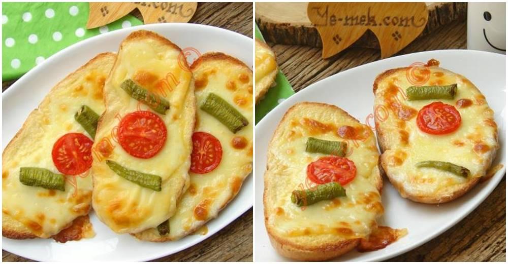 Kahvaltılık Domatesli Peynirli Ekmek Dilimleri Tarifi Videosu